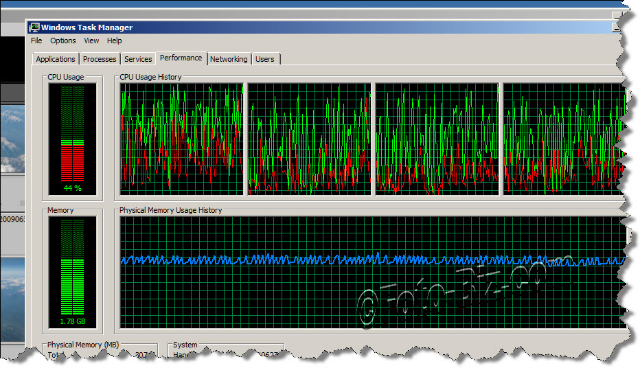 Lightroom: CPU Usage