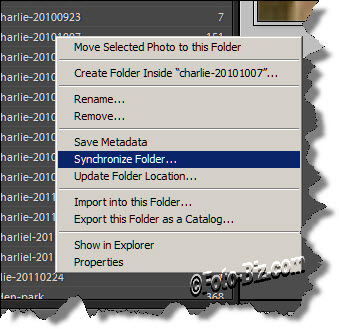 Lightroom: Synchronize Folders