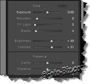 Lightroom Develop Module Sliders: Recovery, Fill & Black