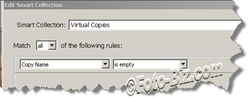 Lightroom: Identify the Virtual Copies