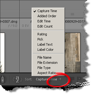 Lightroom: Sorting Orders